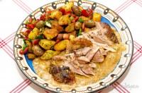 Curry de curcan și salată de cartofi