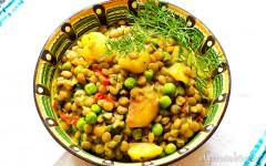 Curry de linte verde…