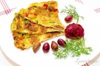 Omletă legume și chutney de sfeclă roșie