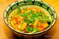 O mâncărică aromată dintr-un dovlecel și un cartof dulce.